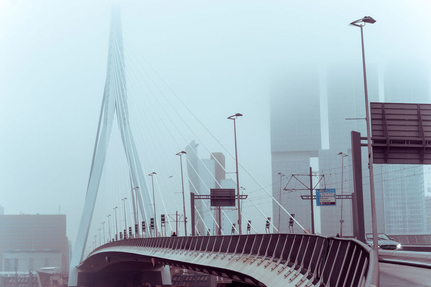 Architecture Building Exterior Built Structure City Clear Sky Day Erasmus Bridge Hospital No People Outdoors Sky Travel Destinations