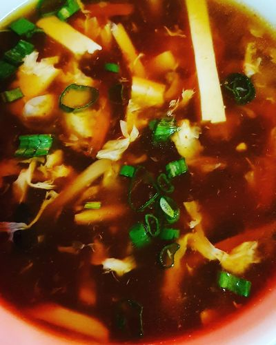 Hot And Sour Soup Soup Chinese Food Tofu GREECE ♥♥ Santorini, Greece Close-up Food And Drink