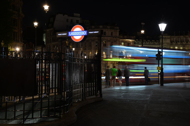 London London Bus Underground Architecture Building Exterior Built Structure City Illuminated Londonbus Londonbynight Night No People Outdoors Sky