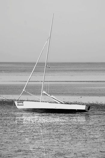 Nordsee Ebb And Flow Black And White Sailing Ship Water Nautical Vessel Sea Sailboat Sailing Tall Ship Beach Mast