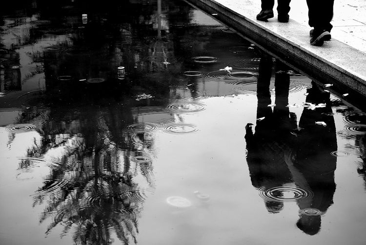 Streetphotography Monochrome Black&white Bw_collection Black & White Blackandwhite Streetphoto_bw Black And White Water Reflections Shades Of Grey Here Belongs To Me Two Is Better Than One Capture Tomorrow