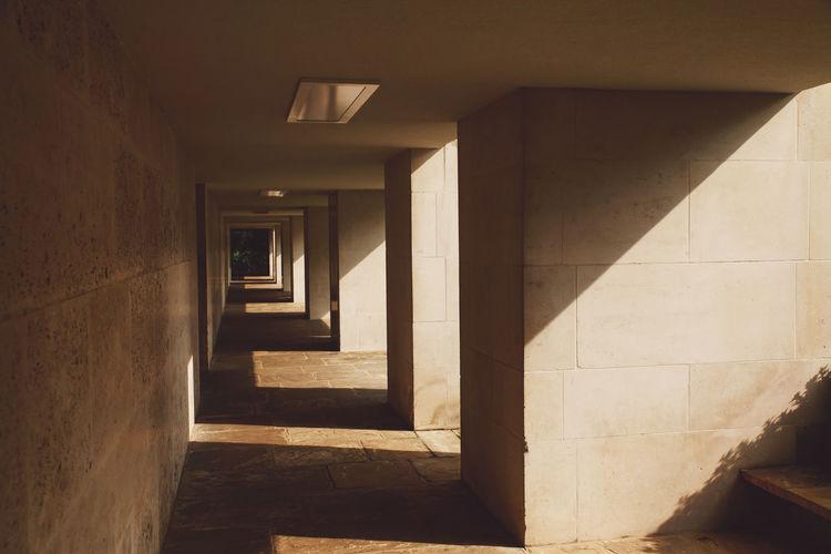 Empty Passage In Building