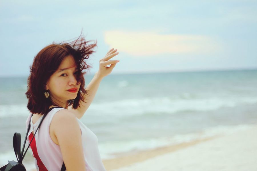 EyeEm Selects Sea Beach One Person Adult Young Adult Only Women One Woman Only People One Young Woman Only Long Hair Beautiful Woman Adults Only Sand Young Women Outdoors Happiness Portrait Nature Beauty Human Body Part phu quoc Phu Quoc Vietnam Phu Quoc Phu Quoc Island