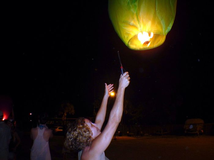 Everyday Joy sending my special wish off Lantern Release
