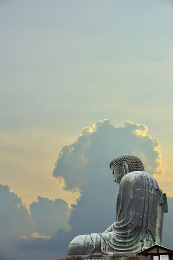 A superimposed or double exposures of The Great Buddha of Kamakura town, Japan, a bronze statue of Amida Buddha with a beautiful dramatic and peaceful clouds and sky. Mindfulness and enlighten moment. Buddha Statue Sky Cloud - Sky Sunset Religion Great Buddha Superimpose Double Exposure Bronze Statue Amida Buddha Mindfulness Peaceful Enlightenment Zenfone Photography Buddhism Photography Buddha Image Kamakura Japan Sitting Outside Dramatic Sky Enlightingsoul Soul Searching Meditation Meditation Time VOID Voidness 50 Ways Of Seeing: Gratitude Statue Digital Composite EyeEmNewHere 2018 In One Photograph