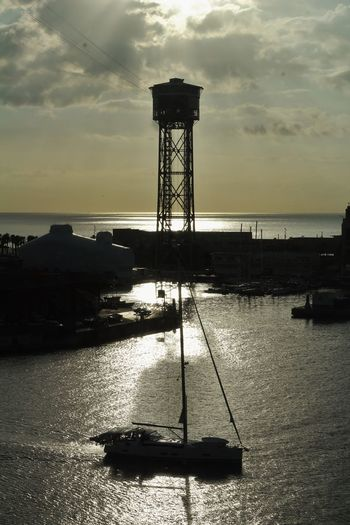 Good Morning Starting A Trip Going Sailing Sunrise Sunrise Silhouette Silhouette Summertime Sea And Sky Bon Dia My City