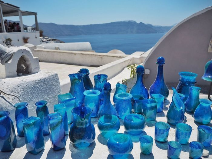 Blue on white Blue Day Water Nature Land Sky Sea Outdoors Inflatable  In A Row Scenics - Nature No People Sunlight Large Group Of Objects Mountain Arrangement Side By Side Beach Abundance