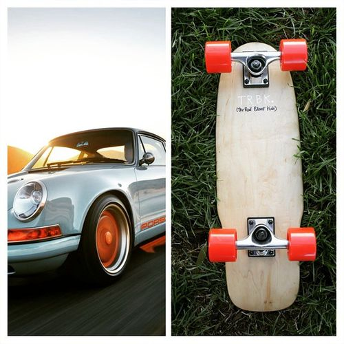 | Where do you source your inspiration? @singervehicledesign is where we find ours. Dubai meet The Size Ain't Everything Vintage Orange | Longboard Skateboard Cruiser Handfinished weathertreated streetfashion streetwear streetstyle fashionblog fblogger sblogger porsche singerporsche dubai losangeles paris sneakerhead inspiration capetown madeinamerica actionsports startup
