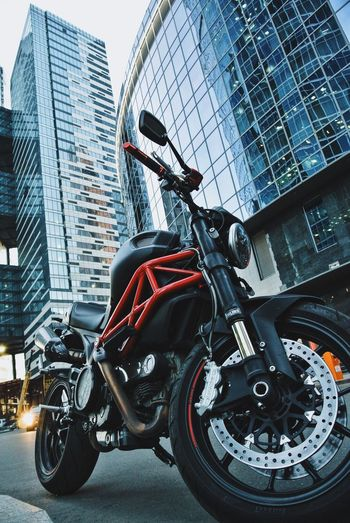 Ducati Ducati Monster Moscow Motorbike Skyscraper Transportation City Life Москва Motorcycles Motorsport