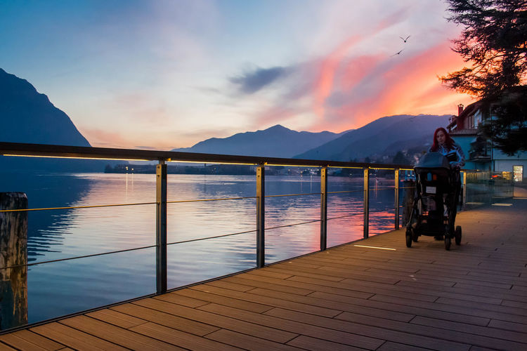 Architecture Beauty In Nature Cloud - Sky Day Iseo Lake Lake Langbart Lovere Lovere Lake Mountain Mountain Range Nature Nautical Vessel Outdoors Railing Scenics Sky Sunset Transportation Water EyeEmNewHere