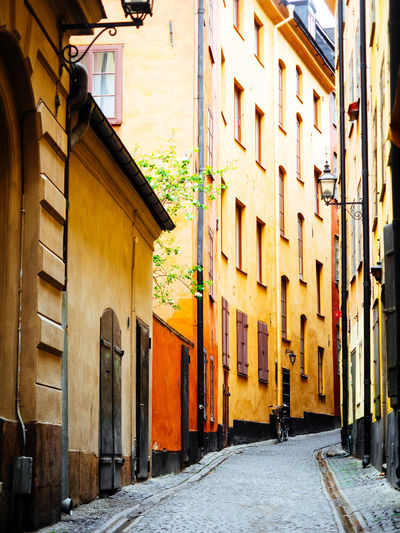 Alley Architecture Building Exterior Built Structure City Day House No People Old Old Buildings Outdoors Scandinavia Sky Sweden Tree Urban Vintage