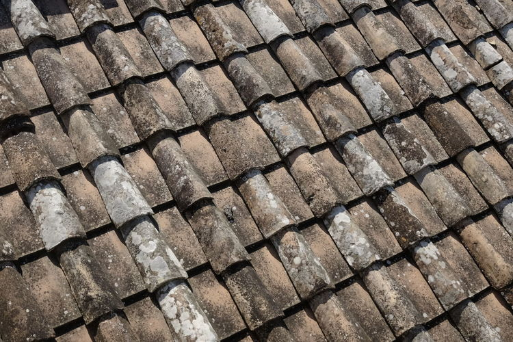 Full Frame Backgrounds Pattern No People Textured  Day Close-up Roof Repetition Roof Tile Sunlight Architecture In A Row Large Group Of Objects Nature Built Structure High Angle View Outdoors Design Shape Brick
