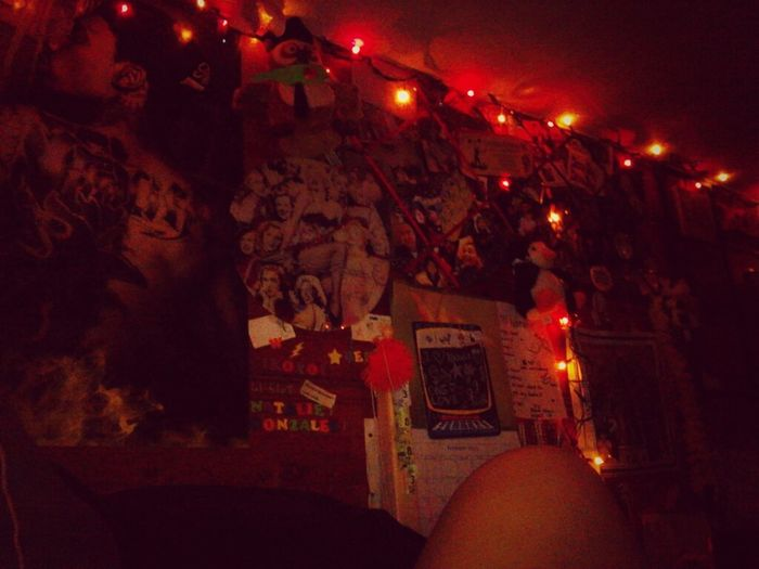Put Lights Up In My Room :) I Love How It Looks <3