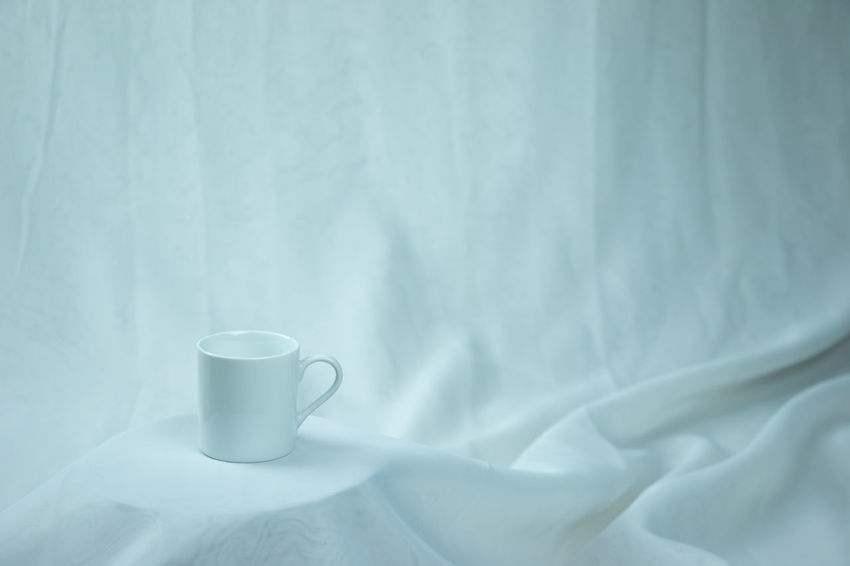 White on white Bed Close-up Coffee - Drink Coffee Cup Cup Day Drink Food And Drink Freshness Indoors  Minimal Minimalism No People Refreshment Sheet White White Background