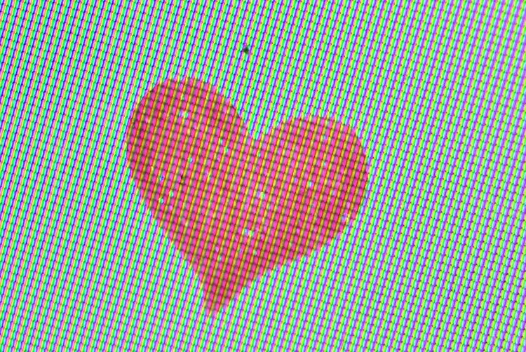 3d Texture 3dsmax Texture Close-up Extremecloseup Grid Heart On Computer Screen Heart Shape Ink Love No People Painted Image Red Reverse Lens Reverse Lens Macro Reverse Lens Photography Science