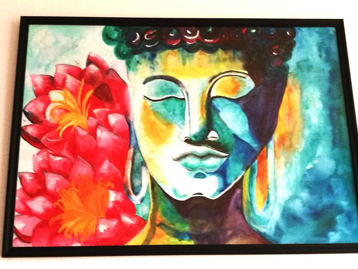 Creativity Art And Craft Multi Colored Fine Art Painting No People Close-up Yoga ॐ Relaxing Place Art, Drawing, Creativity EyEmNewHere Wall HuaweiP9 Wall Decoration HuaweiP9Photography Mobilephotography