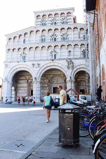Church Architecture Church Bikes Tourism Architecture_collection Lucca Italy Lucca Italy Tourists Architecture Real People Built Structure Building Exterior Group Of People Lifestyles Women City Arch Day Building Tourism Travel Destinations Travel People History Leisure Activity