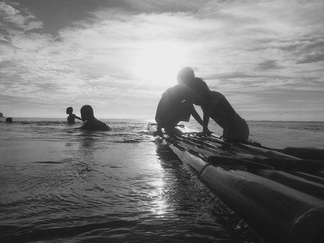 Beachlovers Hanging Out Enjoying Life Mono Chrome Black&white Eyeem Philippines The KIOMI Collection