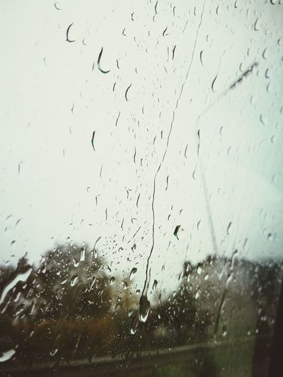 Window Wet Backgrounds No People Indoors  Water RainDrop Close-up Day Full Frame Sky Autumn Mood