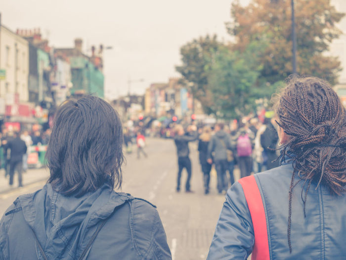 Walking on the street in Camden Town / London Back Camden Town Capture The Moment Casual Clothing Leisure Activity Lifestyles London People Celebrating Person Real People Street Photography Togetherness Uk Young Adult Pmg_lon