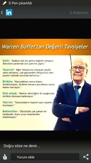 Tavsiye ye kulak Asin .. Warren Buffet