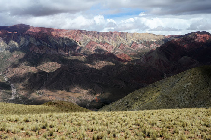 Andes Argentina Beauty In Nature Cloud - Sky Day Geology Hornocal Humahuaca Landscape Mountain Mountain Range Nature No People Outdoors Physical Geography Scenics Sky Tranquil Scene Tranquility