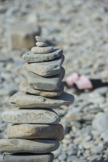 pebble stone towers by the sea, Zen, peace Stack Balance Solid Focus On Foreground Stone - Object Day Close-up Rock Pebble Stone Human Body Part Body Part Rock - Object Outdoors Nature Still Life Beach Large Group Of Objects Metal