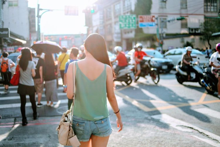 Street City City Street Adults Only City Life Sunlight Day Outdoors Only Women Crowd Road Real People People One Woman Only Adult One Young Woman Only
