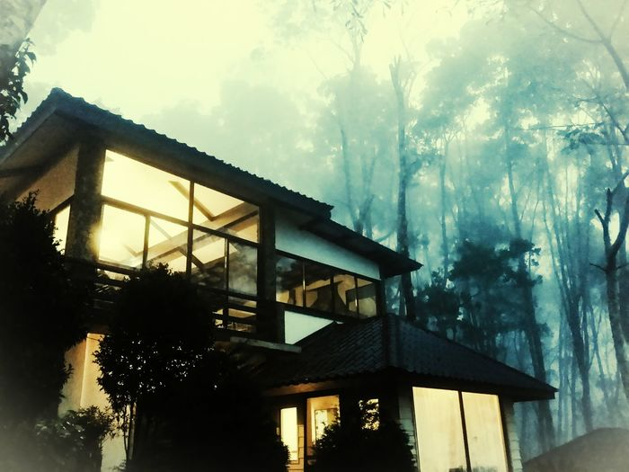 House on a hill R&R Architecture Lighting Nature Mountain First Eyeem Photo