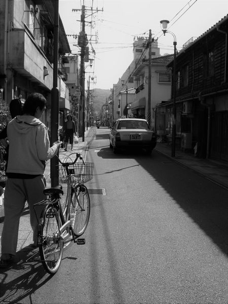 BEPPU CITY Black And White Bycicle Home Japan Local Town Old Town On The Way Portrait Of A Friend Portrait Of A Man  Uni Life