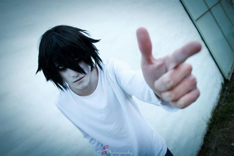 BANG!! ...sorry Light. L Lawliet Ryuzaki Death Note Cosplay Cosplayer Anime L Tv Series