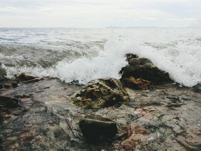 """Rush"" Sea Fun Sea Waves Enjoying Life Rock Smash Water In Action"