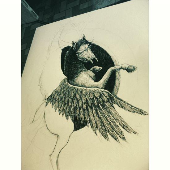 Work Drawing Desain My Drawings ✏ Inking Progress Illustration ArtWork On Paper Pen