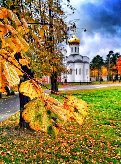 храм Осень 🍁🍂 дожди☔ холод