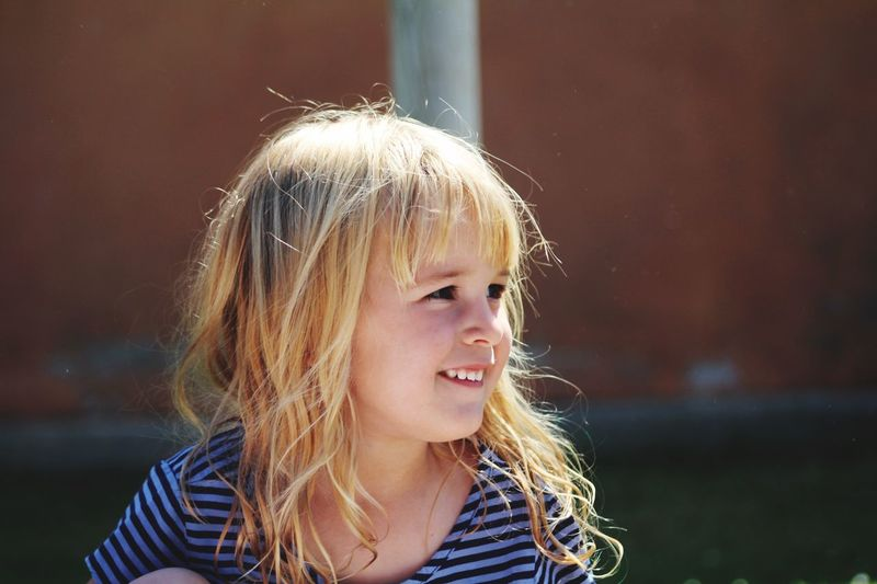🍼 Childhood Blond Hair Real People Focus On Foreground One Person Headshot Leisure Activity Close-up Lifestyles Outdoors Happiness Day Baby Babygirl Babyblonde Cousin