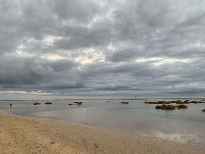Water Cloud - Sky Sky Sea Beach Beauty In Nature Scenics - Nature Nature No People Horizon Horizon Over Water Land Nautical Vessel Tranquility Tranquil Scene Sand Day Idyllic Outdoors