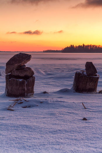 Taken: Oset, Örebro, Sweden Beauty In Nature Cold Temperature Landscape Nature No People Outdoors Postcard Rock - Object Scenics Sky