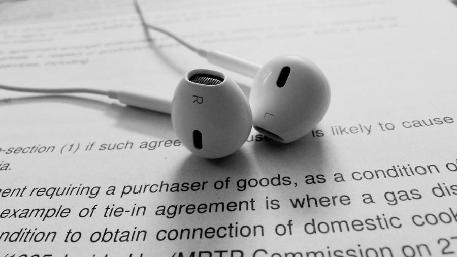 Earpods Text Communication No People Close-up Western Script Paper Indoors  Still Life Music Focus On Foreground Technology EyeEmNewHere