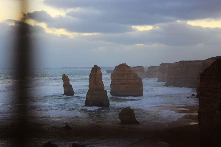 12 Apostles Australia Great Ocean Road Twelve Apostles Beach Beauty In Nature Cliff Cloud - Sky Day Horizon Over Water Idyllic Nature No People Outdoors Rock - Object Sand Scenics Sea Sky Tranquil Scene Tranquility Water