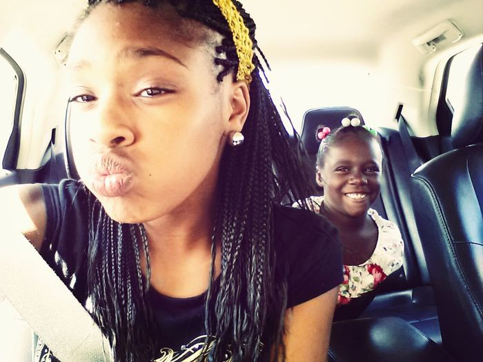 Ain't nobody told her to get in my picture! ♥ Lil Cousin