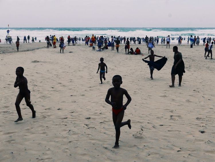 Beach Sand Large Group Of People Sea Real People Shore Leisure Activity