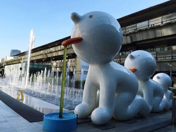 SiamParagon Daytime Travel Destinations Outdoors No People Fountain Water Doll Dolls Famous Place Famous Bangkok Thailand. Bangkok Thailand