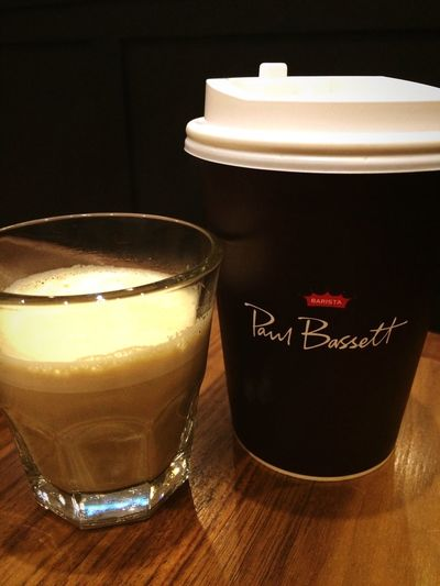 Happiness with calmness Cafe Latte Latte Drinking A Latte On A Date Coffee Relaxing