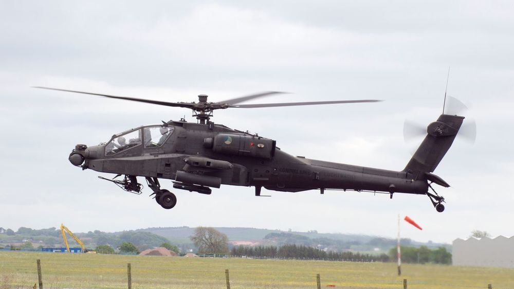 Dutch Apache Helicopter at Carlisle Airport in the U.K. Apache Helicopter