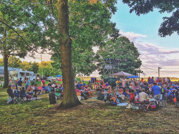 Waiting for the performance to begin... Dusk Stratford Stratford Upon Housatonic Theatre Theater Shakespeare Taming Of The Shrew Outside Outdoors (null)Sunset Performance Theatrical Summer Summertime August New England  USA American Shakespeare Theatre Long Island Sound (null)Shakespeare Festival Festival