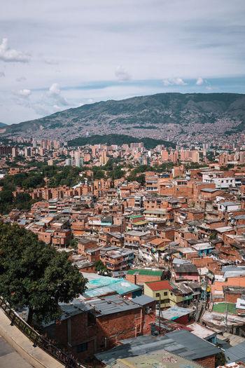Slum in medellin at colombia