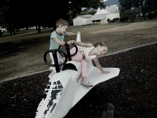 Brother & Sister Loveley Having Fun With Kids
