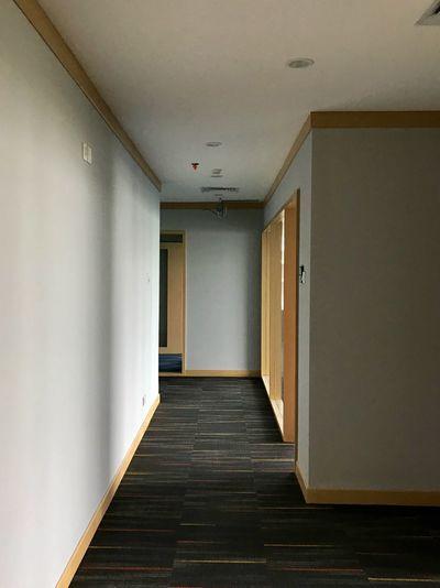 Office rooms inside the school of music Corridor Indoors  Door Ceiling Empty No People Architecture Built Structure Day