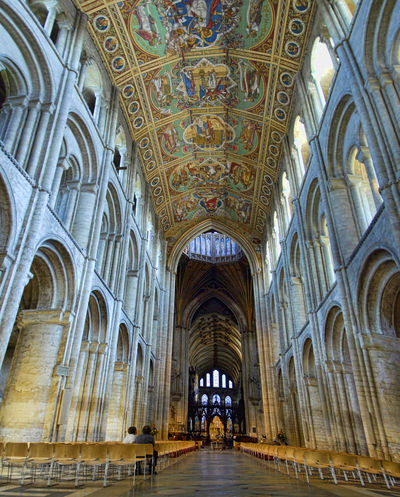 Architecture Cathedral Ely Cathedral Gothic Indoors  Interior Nave Panorama