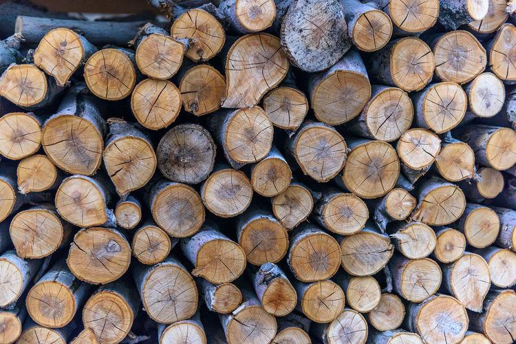 Chop Stack Wood Crack Firewood Lumber Pile Timber